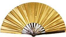 Large Gold hand fan, Tai Chi Fan, tessen, wushu, belly dancing performance fan.