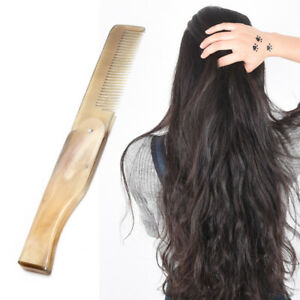 Women-Ox-Horn-Fine-Tooth-Pocket-Folding-Comb-All-Hair-Types-Beard-Mustache-I2