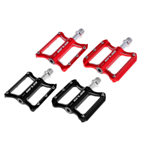 Red 1 Pair Durable MTB Bicycle Foot Pedals Outdoor Riding Sports Cycling