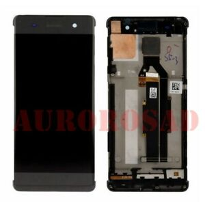 retina-sur-chassis-pour-noir-Sony-Xperia-XA-F3111-ecran-lcd-vitre-tactile