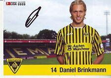 FOOTBALL carte joueur DANIEL BRINKMANN équipe ALEMANNIA AIX LA CHAPELLE signée