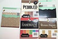 Lot Five (5) Premium 6 X 6 Textured Stacks Dcwv Paper Pads