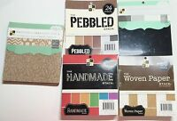 Lot Five (5) Premium 6 X 6 Textured Stacks Dcwv Paper Pads