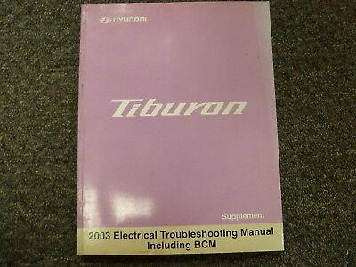 2003 hyundai tiburon coupe electrical wiring diagram manual gt v6 2.0l 2.7l  | ebay  ebay