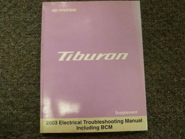 2003 Hyundai Tiburon Coupe Electrical Wiring Diagram