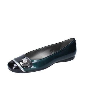 Details about Women's shoes HOGAN 5.5 (EU 35,5) ballet flats green p leather black BK778-35,5