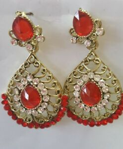 Details About Indian Earrings Online Jewellery Gold Plated Bollywood Pearl Jhumka Jhumki
