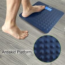 Antiscid Digital Bathroom Scale 400lb/180kg Slim LCD Electronic Body Weight Fat