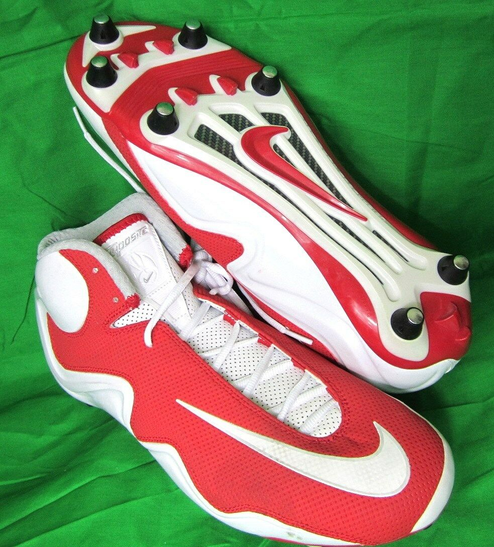 Shoes, NIKE Zoom Flyposite NEW Removable Cleats RED White 12US Football Lacrosse