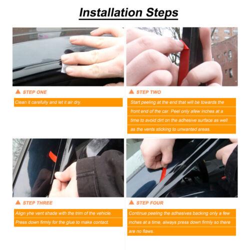 4pcs JDM Smoke Window Visors For 94-97 Honda Accord 4-Door Sedan Tint Vent Visor