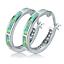 Opal-Creolen-Klapp-Stein-Silber-Farbe-Ohrringe-Damen-Frauen-Ohrschmuck Indexbild 8