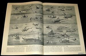 HELICOPTER-HISTORY-1954-1ST-FIFTY-YEARS-ARTWORK-SPREAD-ROTARY-WING-PICTORIAL