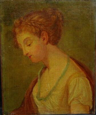 Doeltreffend Portrait De Femme Epoque 1er Empire Huile Sur Toile Napoléon Bonaparte