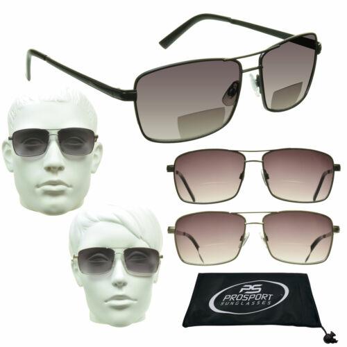 Bifocal Sunglasses Aviator for Men /& Women 100/% UV Protection Bi-focal Large Fit