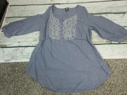 FREE PEOPLE Medium M Peasant Shirt Boho CUTE!