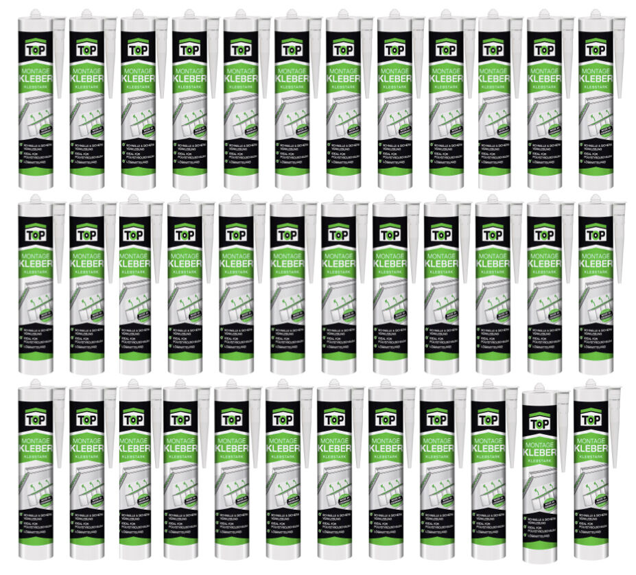 Montagekleber EUR 5,17/kg 36 x 435 g  Styroporkleber / Baukleber /Leistenkleber