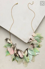 """NEW Anthropologie Derya Aksoy Mariposa Necklace Butterfly & Leaves $288 23"""""""
