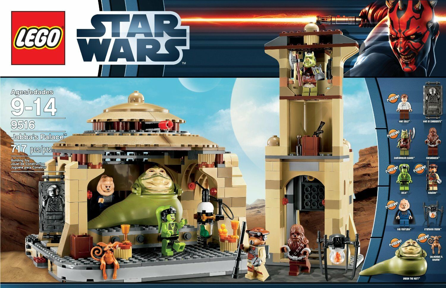 LEGO stjärnornas krig Jabba's Palace 9516 Returning of the Jedi New In låda Soled out