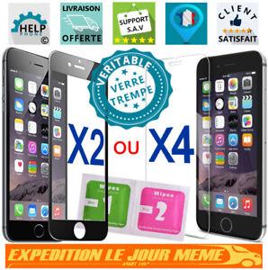 Vitre protection intégral verre trempé film Ecran iPhone 5SE 6 6s 7 8 X Xr Xs 11