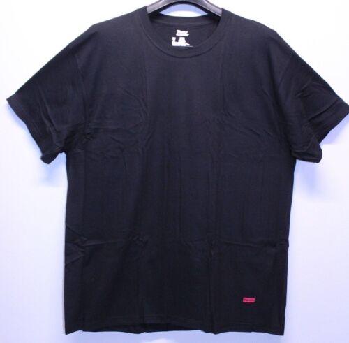 Supreme NYC Hanes Black Red Box Logo 1 Single T-Shirt Men/'s Size XL SS18A23 New