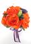 17-piece-Wedding-Bouquet-Bridal-Silk-Flowers-Bouquets-ORANGE-LILY-PURPLE-PLUM thumbnail 7