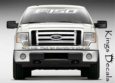 "40/"" FORD F-150 Windshield Window Vinyl Decal Sticker Outline Vehicle Logo WHITE"