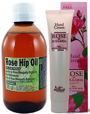 ORGANIC RoseHip Oil 100% Pure  8.45oz 250ml big size bottle + Free Cream 50% OFF