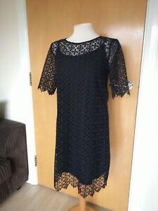 Ladies-Dress-Size-12-NEXT-Black-Lace-Party-Evening-Wedding-Races