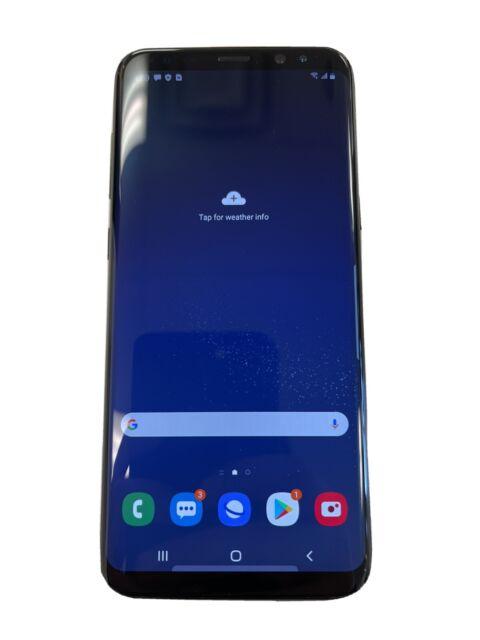 Samsung Galaxy S8+ SM-G955U 64GB - Midnight Black (Unlocked) very clean paid off