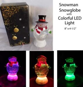Christmas-Snowman-Snowglobe-with-changing-LED-Lighting