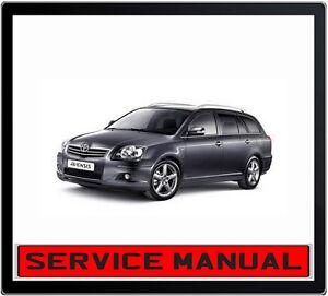 toyota avensis 2002 2007 service repair manual in dvd ebay rh ebay com au Toyota Corolla Toyota Avensis 2013