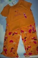 Girls 8 9 Gymboree Copa Cabana Orange Rhumba Top Pants Set Vintage Rare