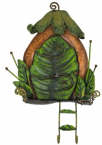 Fountasia Süß Fee Tür mit Efeu Blatt /& Leiter Metall Garten Dekoration Süß