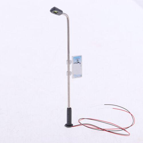 40x Warmweiß Lampen Laternen Leuchten HO-Modellbahn-Straßenlaternen 1:100 Scale