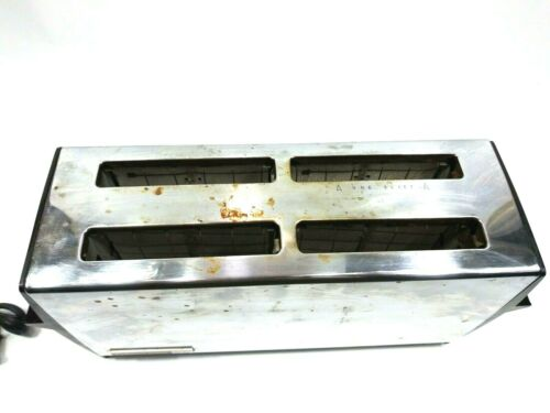 Vintage Hamilton Beach Stainless Steel 4 Slice Toaster Model 307 K11M