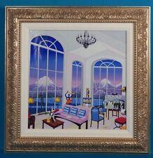 "Rare Fanch Ledan ""Interior with Caillebotte"" Embellished Serigraph on Linen"
