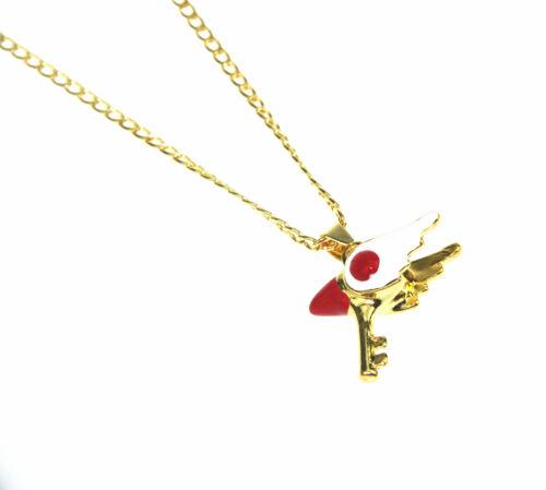 Card Captor Sakura Kinomoto Sakura Star Wand Key Cosplay Necklace Pendant Chain