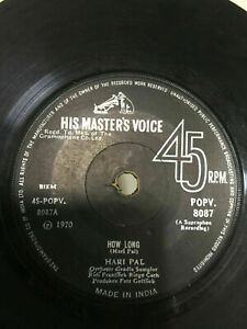 HARI PAL 70s english pop Rings of saturn/how long RARE SINGLE INDIA RECORD vg+