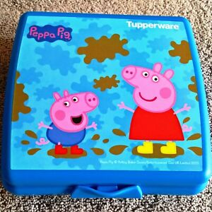 Tupperware-SANDWICH-KEEPER-300ml-PRINTED-Kid-039-s-square-snack-box-MUST-HAVE