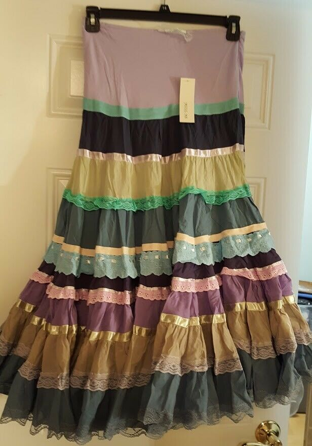 Miss Me Boho colorful Full Length Skirt New with Tags  Medium