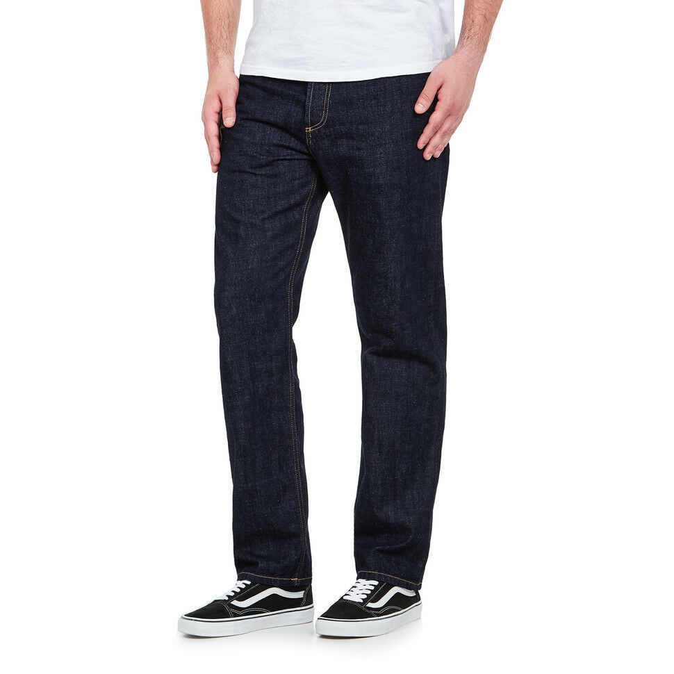 CARHARTT WIP-Marlow Pant  Edgewood  blu Denim, 12 oz blu rinsed Pantaloni