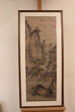 Große Tuschezeichnung China, 103 x 47 cm (mit Rahmen)