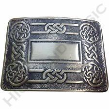 New H M Men's Celtic Swirl Kilt Belt Buckle Antique Finish/Highland Kilt Buckles