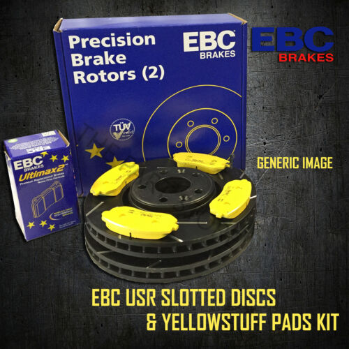 NEW EBC 254mm FRONT USR SLOTTED BRAKE DISCS AND YELLOWSTUFF PADS KIT PD08KF330