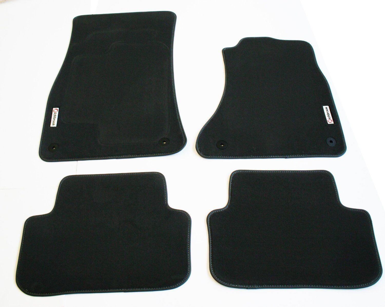 Toyota Rav 4 02-06 Richbrook Grey Carpet Car Floor Mats Set with Leather Trim