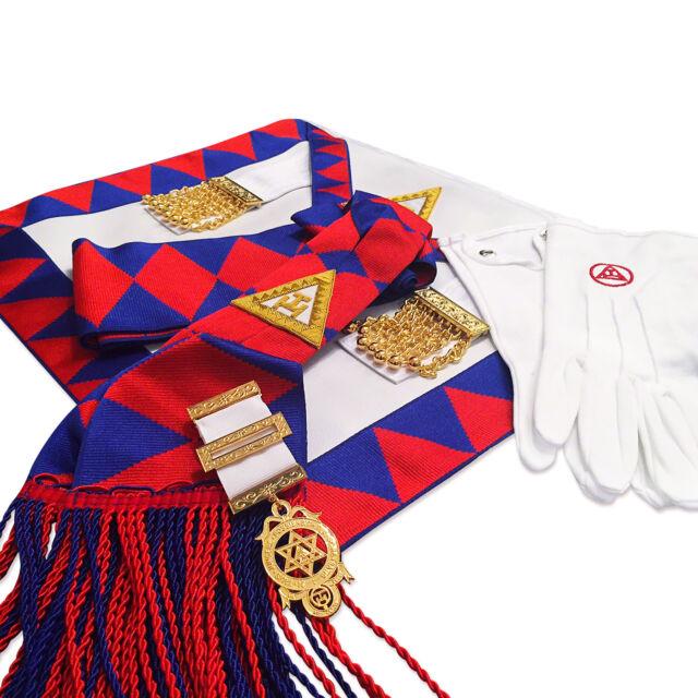 Lambskin Masonic Royal Arch Companions Apron Sash JEWEL & Gloves RA Chapter