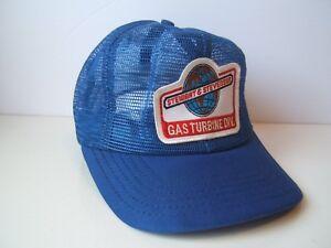 Stewart-Stevenson-Full-Mesh-Patch-Hat-Vintage-Blue-Snapback-Trucker-Cap-Made-USA