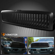 94-01 Dodge Ram 1500/2500/3500 Matte Black Bumper Hood Vertical Grill Grille