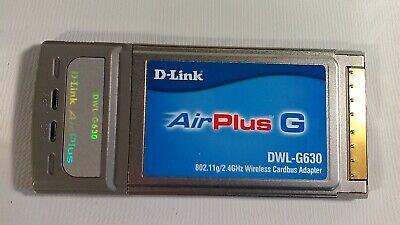 D-LINK DWL-G630 E2 DRIVER DOWNLOAD (2019)
