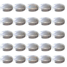 Pack 25 - Chrome Plastidome 2 Piece Plactic Dome Screw Cap Cover Protector